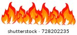 flame  fire  bonfire  cartoon... | Shutterstock .eps vector #728202235