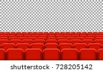 rows of cinema or theater seats.... | Shutterstock .eps vector #728205142