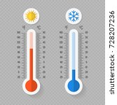 hot and cold meteorology... | Shutterstock .eps vector #728207236