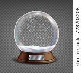 3d classic snow globe vector.... | Shutterstock .eps vector #728208208