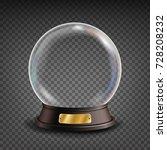 empty snow globe vector.... | Shutterstock .eps vector #728208232