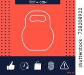 kettlebell line icon | Shutterstock .eps vector #728208922