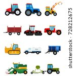 agriculture tractor vector... | Shutterstock .eps vector #728212675
