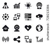 16 vector icon set   share ... | Shutterstock .eps vector #728213386