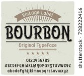 vintage label typeface named ... | Shutterstock .eps vector #728222416