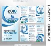 business brochure template in...   Shutterstock .eps vector #728224345
