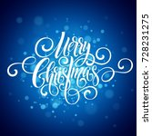 merry christmas handwriting... | Shutterstock .eps vector #728231275