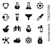 16 vector icon set   hex... | Shutterstock .eps vector #728237086