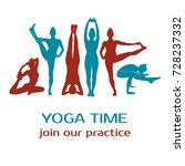 collection of different yoga... | Shutterstock .eps vector #728237332