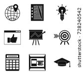 right approach icons set.... | Shutterstock .eps vector #728240542