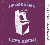 arcade vector vintage retro... | Shutterstock .eps vector #728241772