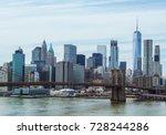 landscape view of brooklyn... | Shutterstock . vector #728244286