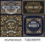4 old designs for packing | Shutterstock .eps vector #728248495