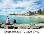 cottesloe beach on a warm... | Shutterstock . vector #728253742