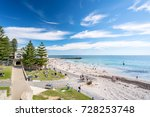 cottesloe beach on a warm... | Shutterstock . vector #728253748