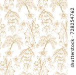 seamless vector pattern with... | Shutterstock .eps vector #728254762