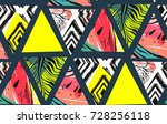 hand drawn vector abstract... | Shutterstock .eps vector #728256118