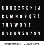retro typewriter font    white... | Shutterstock .eps vector #728264896