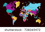 color world map | Shutterstock .eps vector #728265472