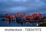 vancouver harbor  british... | Shutterstock . vector #728267572