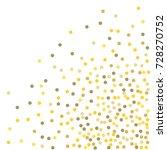 falling golden confetti points. ... | Shutterstock .eps vector #728270752