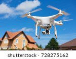 drone usage. private property... | Shutterstock . vector #728275162