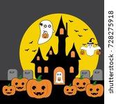 happy halloween | Shutterstock .eps vector #728275918