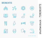 bronchitis thin line icons set... | Shutterstock .eps vector #728281072