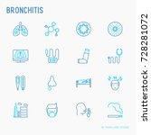 bronchitis thin line icons set... | Shutterstock .eps vector #728281072