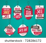 christmas sale tags vector set... | Shutterstock .eps vector #728286172