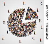 population demographics report  ... | Shutterstock .eps vector #728290135