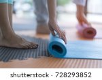 yoga practitioner folding yoga... | Shutterstock . vector #728293852