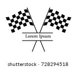 crossing checked racing flags... | Shutterstock .eps vector #728294518