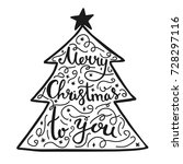 merry christmas to you... | Shutterstock .eps vector #728297116