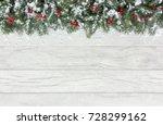 Christmas Border Out Of Natura...
