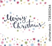 merry christmas greeting card... | Shutterstock .eps vector #728300266