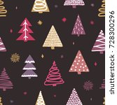 seamless pattern with colorful... | Shutterstock .eps vector #728300296
