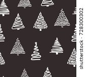 seamless black and white... | Shutterstock .eps vector #728300302