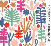 vector colorful flower collage... | Shutterstock .eps vector #728307142