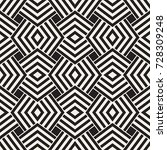 geometric ornament with striped ... | Shutterstock .eps vector #728309248