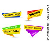 super sale  big sale  special... | Shutterstock .eps vector #728314975
