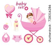 set the first things a newborn... | Shutterstock .eps vector #728316286