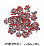 blooming flowers  the leaves... | Shutterstock . vector #728326552