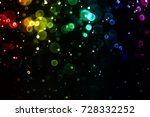 colorful bokeh abstract... | Shutterstock . vector #728332252