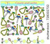 educational game for children.... | Shutterstock .eps vector #728332732