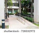 ramp way to support wheelchair... | Shutterstock . vector #728332972
