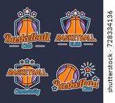 basketball logo design template ... | Shutterstock .eps vector #728334136