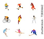 collection of kinds of sport.... | Shutterstock .eps vector #72833662