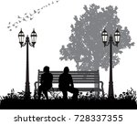 vector  isolated  silhouette... | Shutterstock .eps vector #728337355