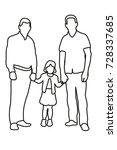 contour  sketch family vector | Shutterstock .eps vector #728337685